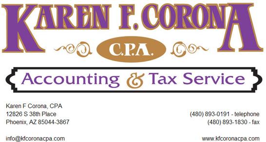 Karen F. Corona | Accounting and Tax Service
